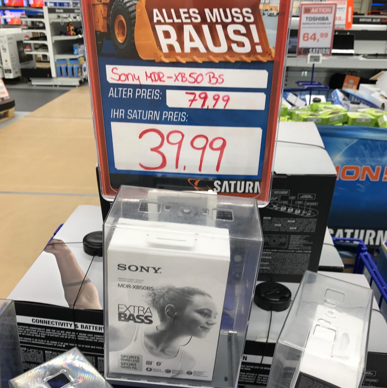 [Lokal Saturn Berlin (Wedding)] Sony MDR - XB50BS für 39,99€ statt 56,69€