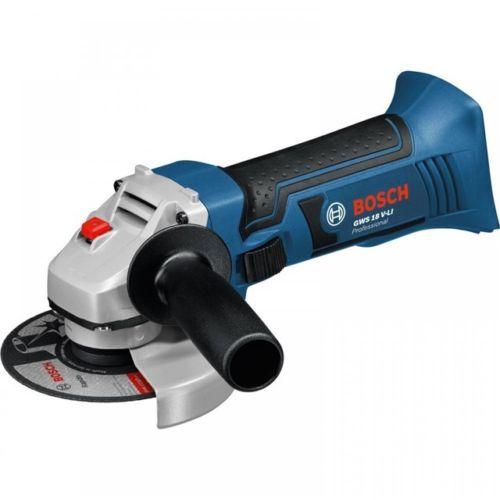 Bosch Professional (Blau) GWS 18 V-LI 115mm Winkelschleifer Akku-Flex SOLO-Gerät