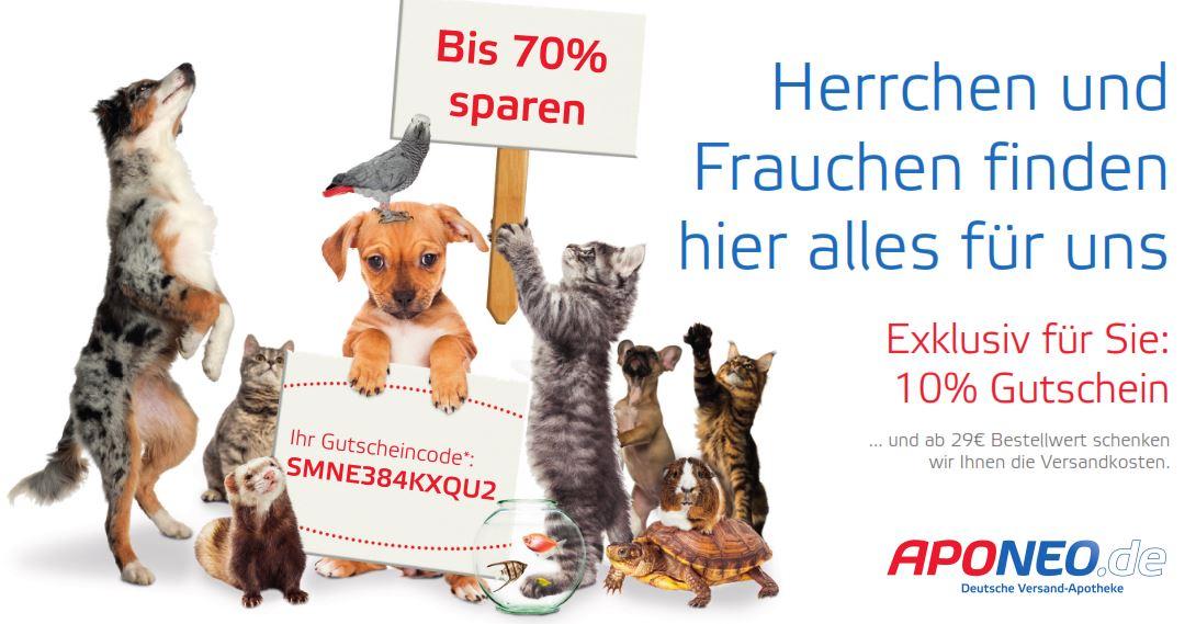 10% ohne Mindestbestellwert bei der Versandapotheke APONEO, ab 29€ Versandkostenfrei
