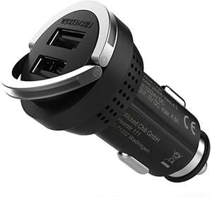 [Amazon Prime Only] Wicked Chili Turbo-ID KFZ Ladegerät 4800mA /24W Dual USB Charger