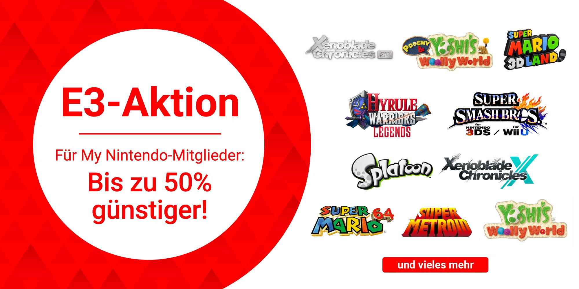[Nintendo 3DS & Wii U] Bis zu 50% Rabatt auf ausgewählte Titel im Nintendo eShop