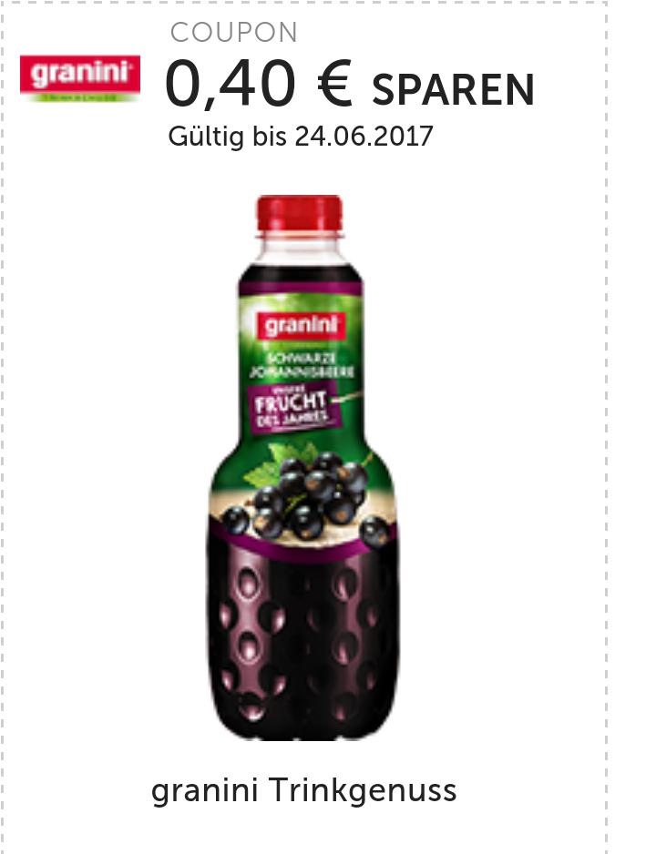 """[Real] 1 Liter Flasche Granini Trinkgenuss """"Schwarze Johannisbeere"""" für 0,71€ anstatt 1,79€"""