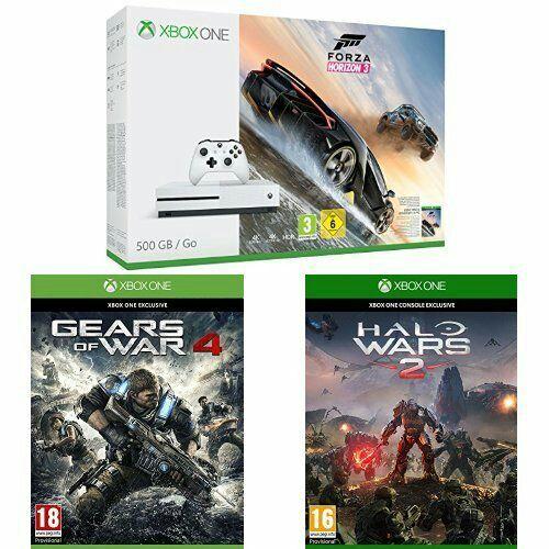 [Amazon.fr] xbox one s 500GB Forza Bundle + Gears of War 4 und Halo Wars 2 oder Fifa 500GB Bundle + 1 Controller für 18-24 Jährige mit Prime-Testzugang für 234,99