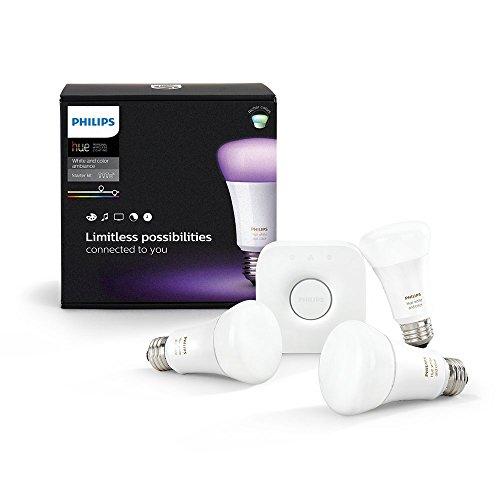 Amazon.fr Philips Hue LED Lampe E27 Starter Set 3. Gen