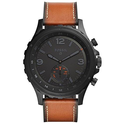 [amazon] Fossil Herren Hybrid FTW1114 Smartwatch Q Nate - Leder - Braun (Android + iOS. Bluetooth Smart, Aktivitäts und Schlafüberwachung)