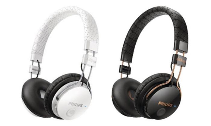Philips CitiScape Foldie On-Ear SB8000 Bluetooth Kopfhörer in Weiß oder Schwarz @ Groupon
