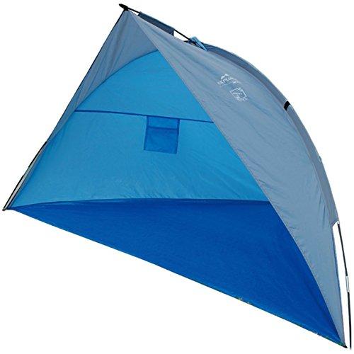[Amazon Prime] EXPLORER UV Schutz 80+ Reise-Strandmuschel 240x125x125cm **extra kleines Packmaß: 30x10cm ** mit Boden