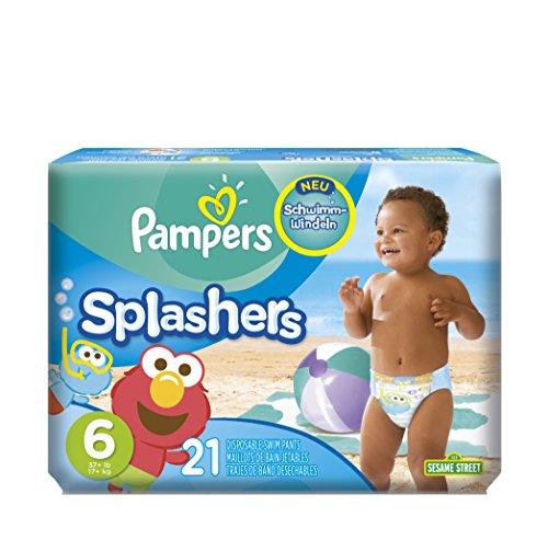 Pampers Splashers 21 Schwimmwindeln in Größe 6 für 9,95€ mit [Amazon Prime]