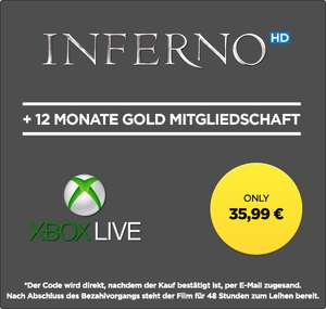 Xbox Live 12 Monate Gold + Inferno [HD] (wuaki)