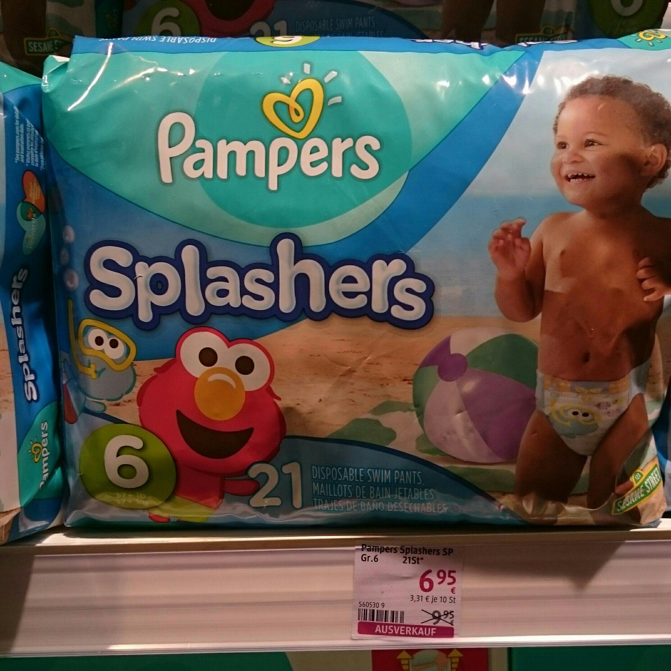 Pampers Splashers 21 Schwimmwindeln in Größe 6 für 6,95 €