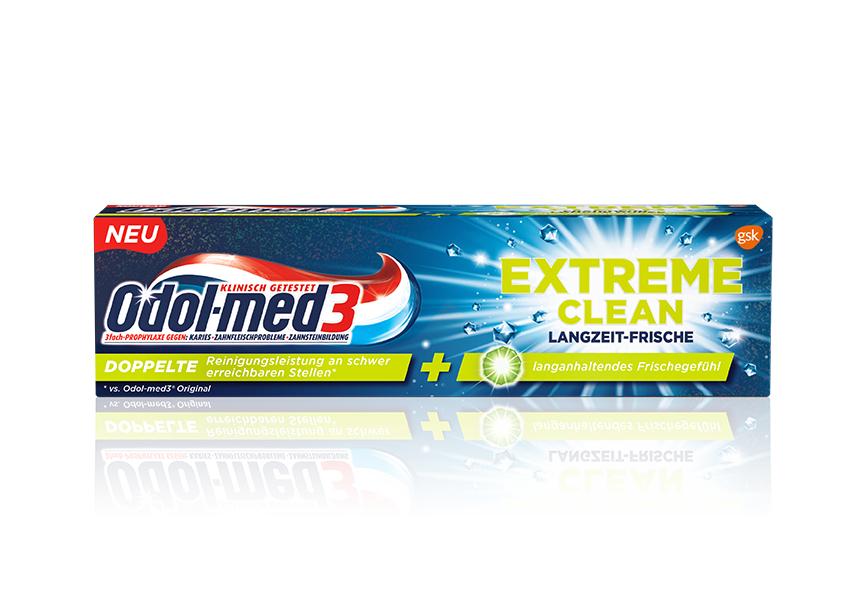 Odol Med 3 Extreme Clean Langzeitfrische - Zahnpasta *Action Filialen
