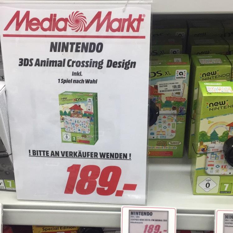 Lokal MM Bischofsheim - Nintendo 3DS Animal Crossing Design + ein Spiel nach Wahl