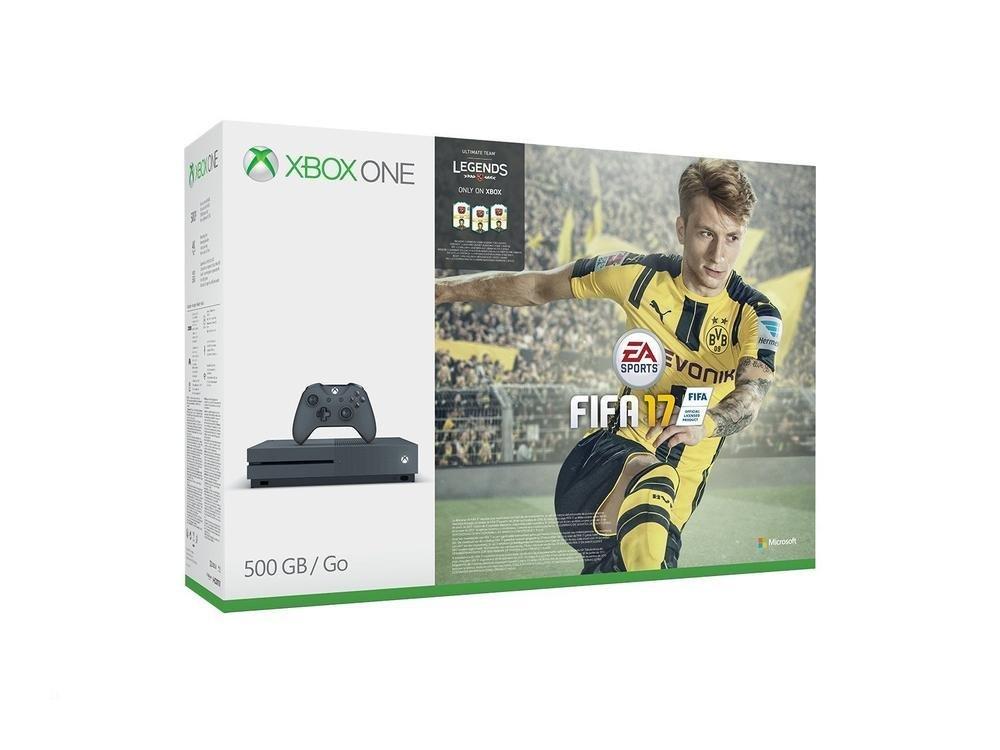 [Amazon DE WHD] Xbox One S 500GB Konsole (Grau) - FIFA 17 Special Edition Bundle