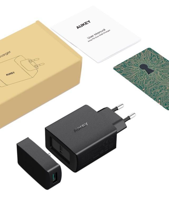 AUKEY USB C Ladegerät mit Power Delivery 29W für z.b. neues iPad Pro