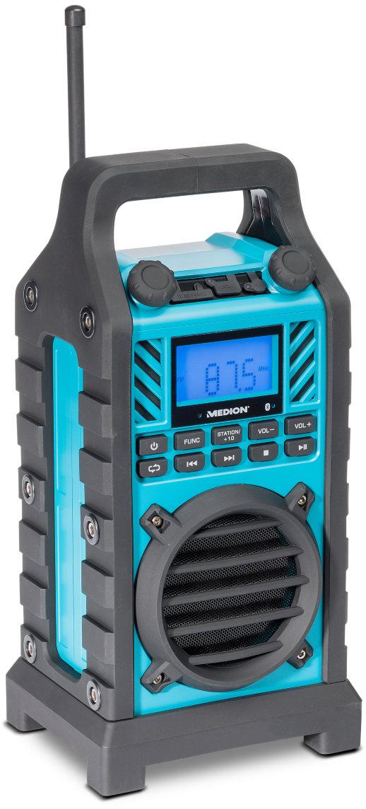 Outdoor Radio MEDION® LIFE® E66263 (MD 84518) mit Bluetooth-Funktion, UKW Radio, SD-Kartenleser, USB-Anschluss und AUX Eingang, 50 Watt für 44,44€ [Medion]