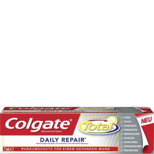 Zahnpasta: Colgate Total Daily Repair 75ml / 2,38€ pro Tube beim Kauf von 5 Tuben / nächster Preis ca. 3,00€ pro Tube