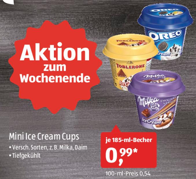 [Aldi-Süd] Mini IceCream Cups Oreo, Milka und evtl. andere Sorten je 185ml für 0,99€ am 30.06. und 01.07.2017