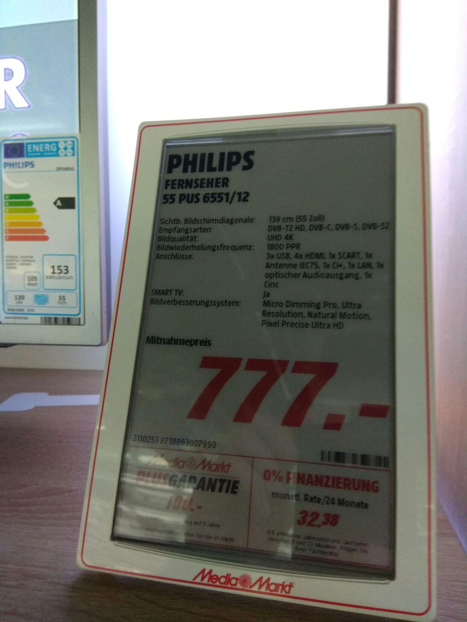 [Lokal Düsseldorf] Philips 55PUS6551/12 für 777€