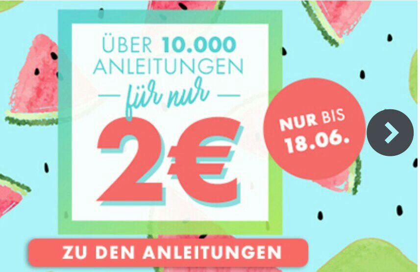 [Makerist] Über 10.000 Schnittmuster, Nähanleitungen, Strickanleitungen etc. für je nur 2,- € - bis 18.06.17 -