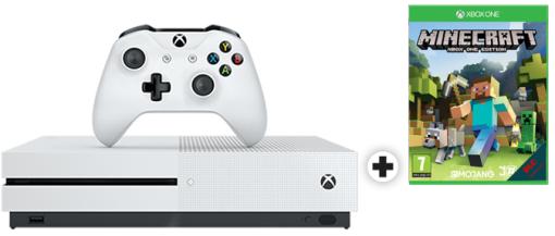 [Nur Schweiz-Mediamarkt.ch) Microsoft Xbox One S 500GB - Minecraft Bundle für umgerechnet 155,-€