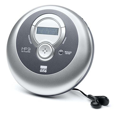 Amazon Prime New One D 1000 tragbarer CD-Spieler (MP3, Schockspeicher) silber