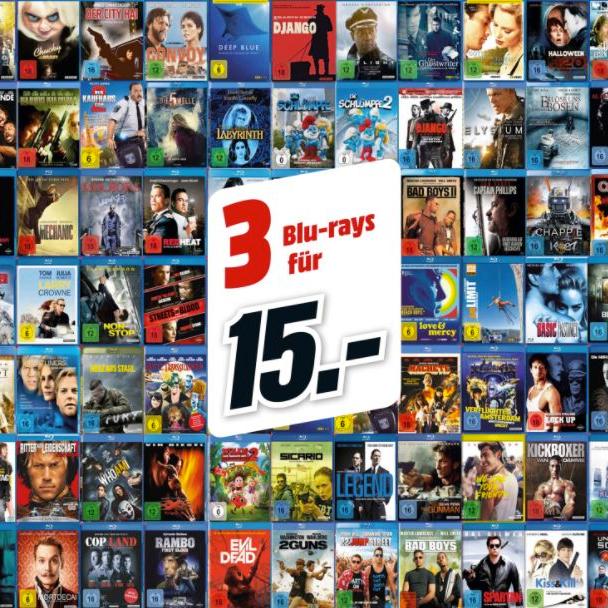 3 Blu-Ray´s für 15€ (Media Markt online und im Markt) / versandkostenfrei bei Markt-Abholung! (u.a. Batman Steelbooks)