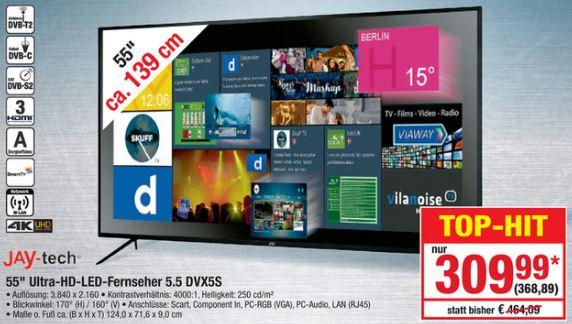 [Metro] 55 Zoll/139,7 cm JAY-TECH GENESIS UHD 5.5 zum Allzeitniedrigpreis 368,89 €, billigster 55 Zoll UHD SmartTV überhaupt