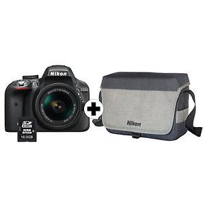 NIKON D3300 mit 18-55 Objektiv, Tasche sowie 16 GB Speicherkarte [MM über eBay]