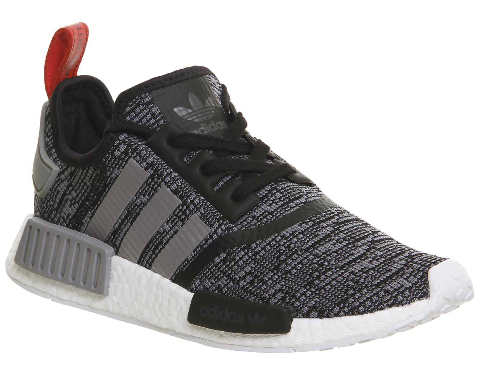 Adidas NMD R1 SCHLICHT SCHWARZ GRAU Schuhe für 99,21€ statt 129,95€ [alle Größen] [@Ebay] [@officeshoes]