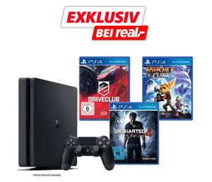 Sony Playstation 4 1TB Slim inkusive Uncharted 4, Driveclub und Ratchet & Clank