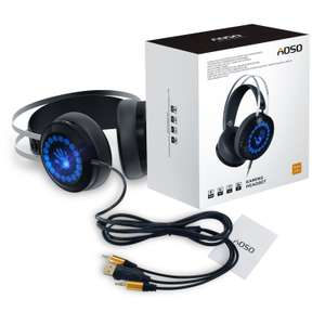 [Amazon Prime] AOSO Gaming Kopfhörer PC G400 Stereo Over-Ear-Headset für PC/PS4/XBOX