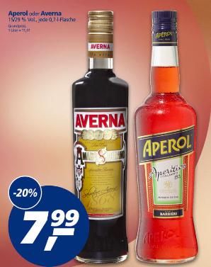 [real / offline] Aperol und Averna zum Bestpreis