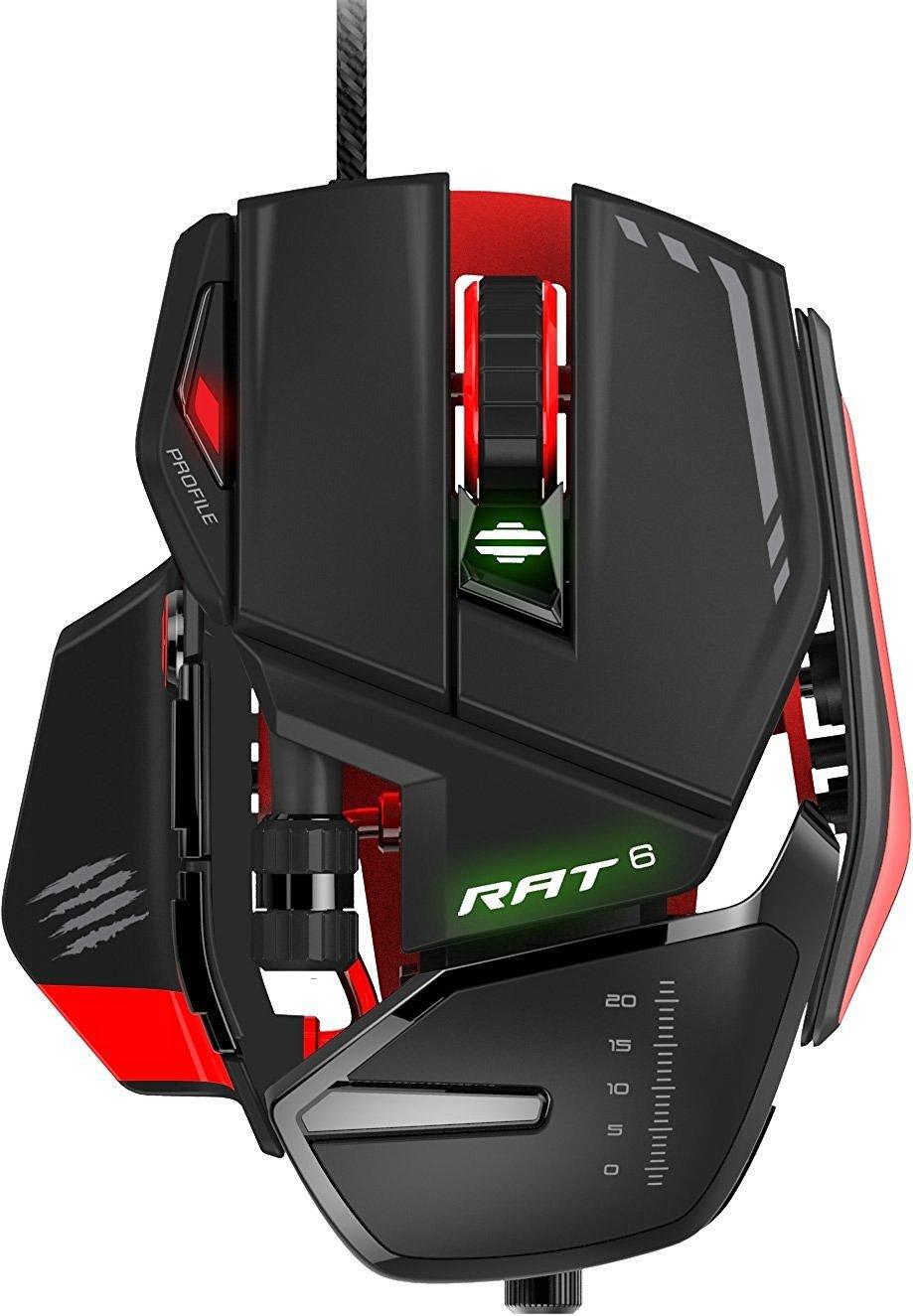 Mad Catz RAT 6 Gaming Maus 8.200 dPi + 11 Tasten [Amazon]