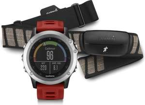 Garmin Fenix 3 HRM silber Performance Bundle mit Garmin Brustgurt