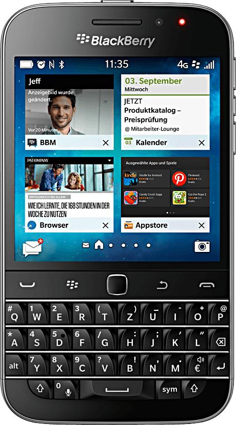 BlackBerry Classic (16 GB, Schwarz)
