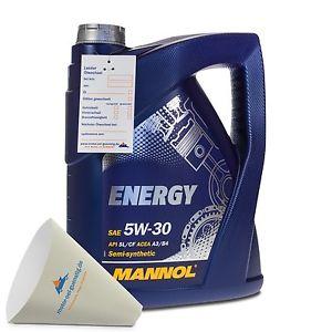 5  Liter MANNOL SAE 5W-30 ENERGY Motoröl VW 502.00 / 505.00 / MB229.3 teilsynthetisch