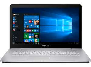[Saturn.at] ASUS Computer Asus N752VX-GC146T 43,9 cm (17, 3 Zoll FHD) Notebook (Intel Core i7 6700HQ, 8GB RAM, 1TB HDD, 512GB SSD, Nvidia GTX 950M 4GB, DVD, Win 10 Home) silbergrau