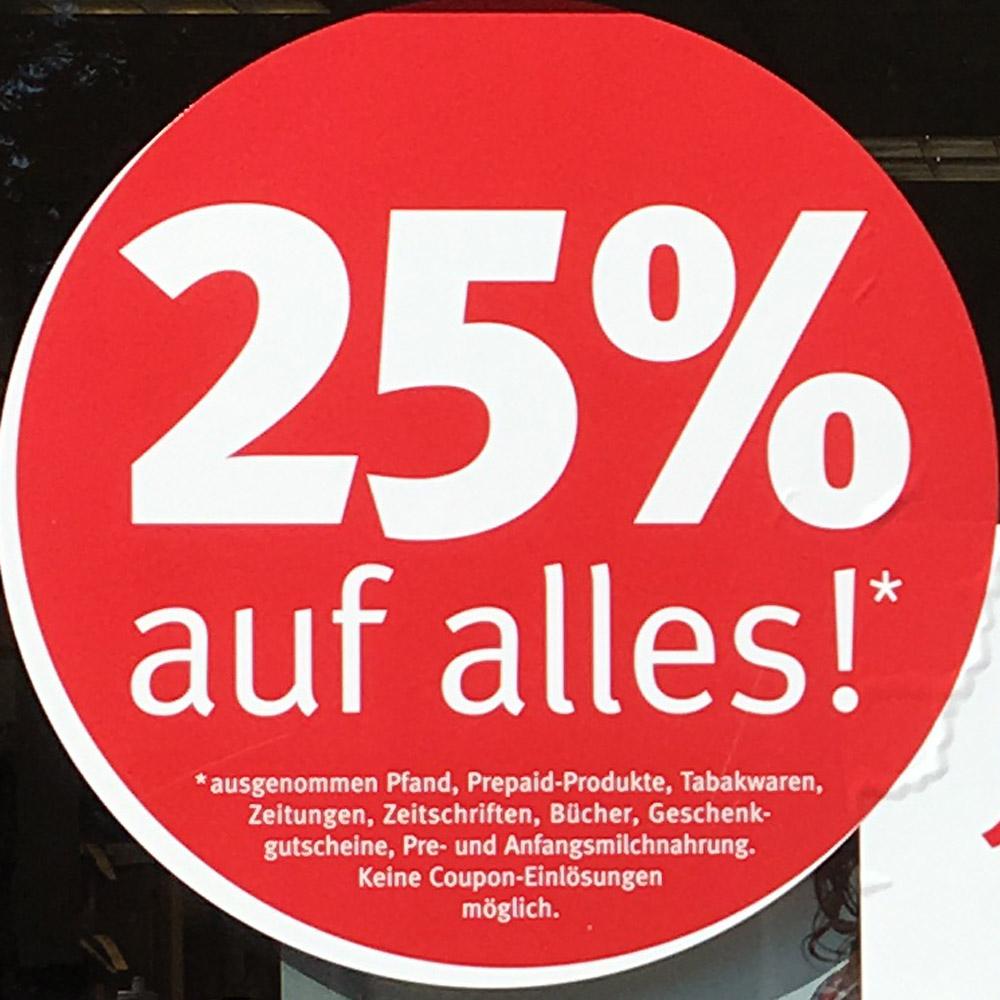 [lokal Berlin Buch] Rossmann 25% Rabatt auf alles*