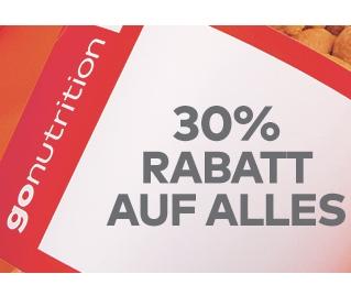 30% auf Alles bei GoNutrition