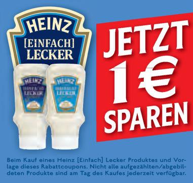 """Heinz """"Einfach Lecker"""" Mayonnaise bzw. Salatcreme für 0,49€ bei Real (Angebot+Coupon)"""