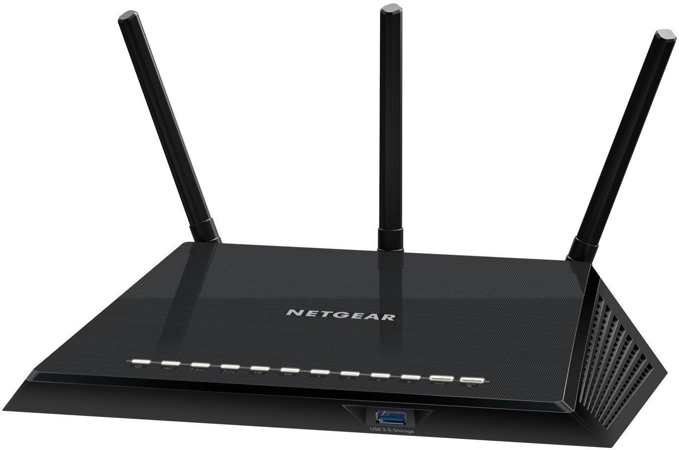 NETGEAR R6400-100PES AC1750 Wireless 802.11ac Dual-Band Gigabit Router (1750Mbit/s, USB 3.0, USB 2.0, Gigabit LAN-Ports) schwarz