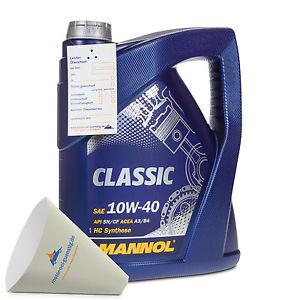5 Liter Mannol 10W-40 Classic Motoröl VW 502.00/505.00, MB 229.1, RN0700 für 10,99 € statt 15,44 € [eBay]
