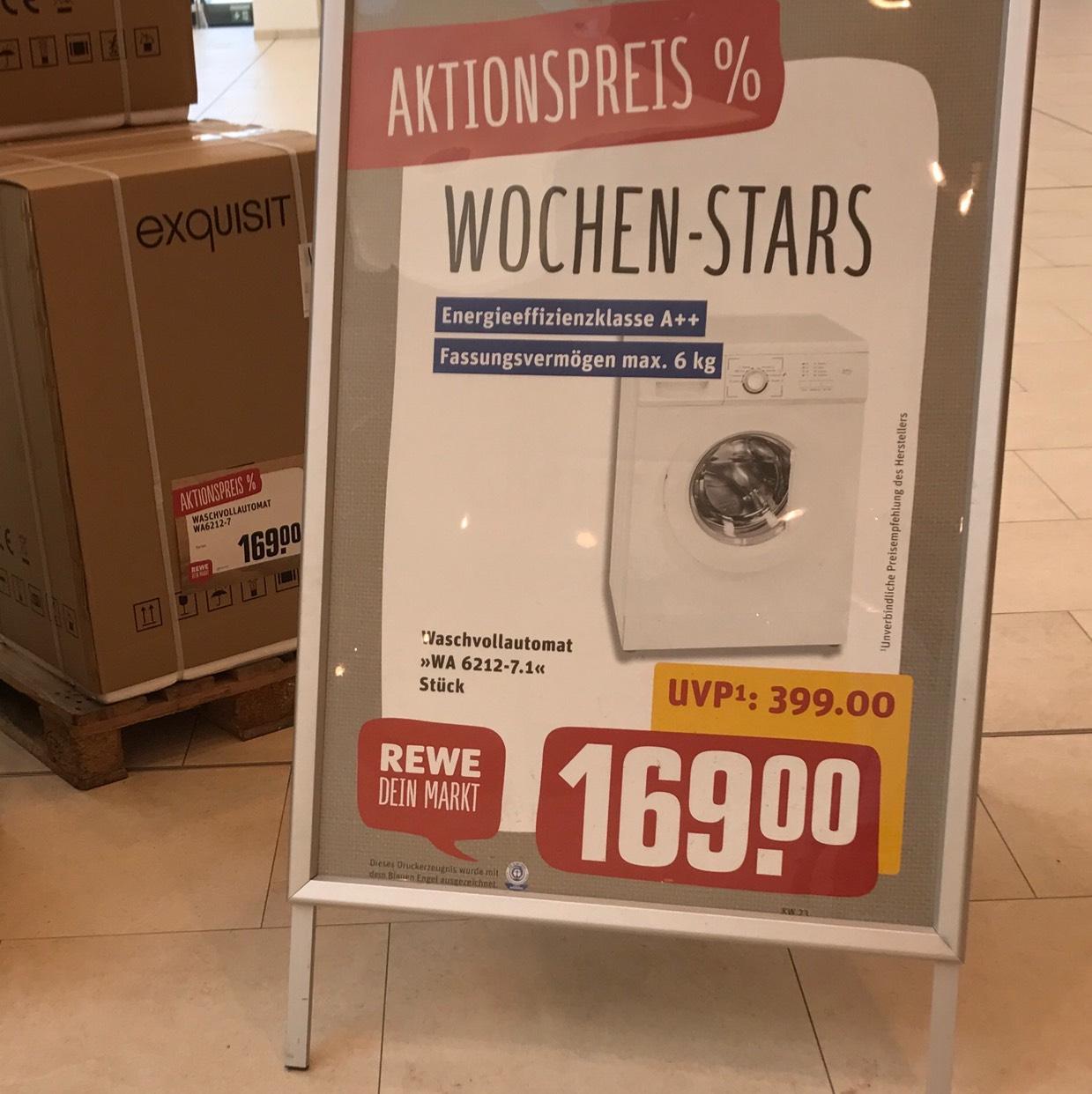 [Lokal Nürnberg im Rewe] Waschmaschine Exquisit A++ max. 6kg