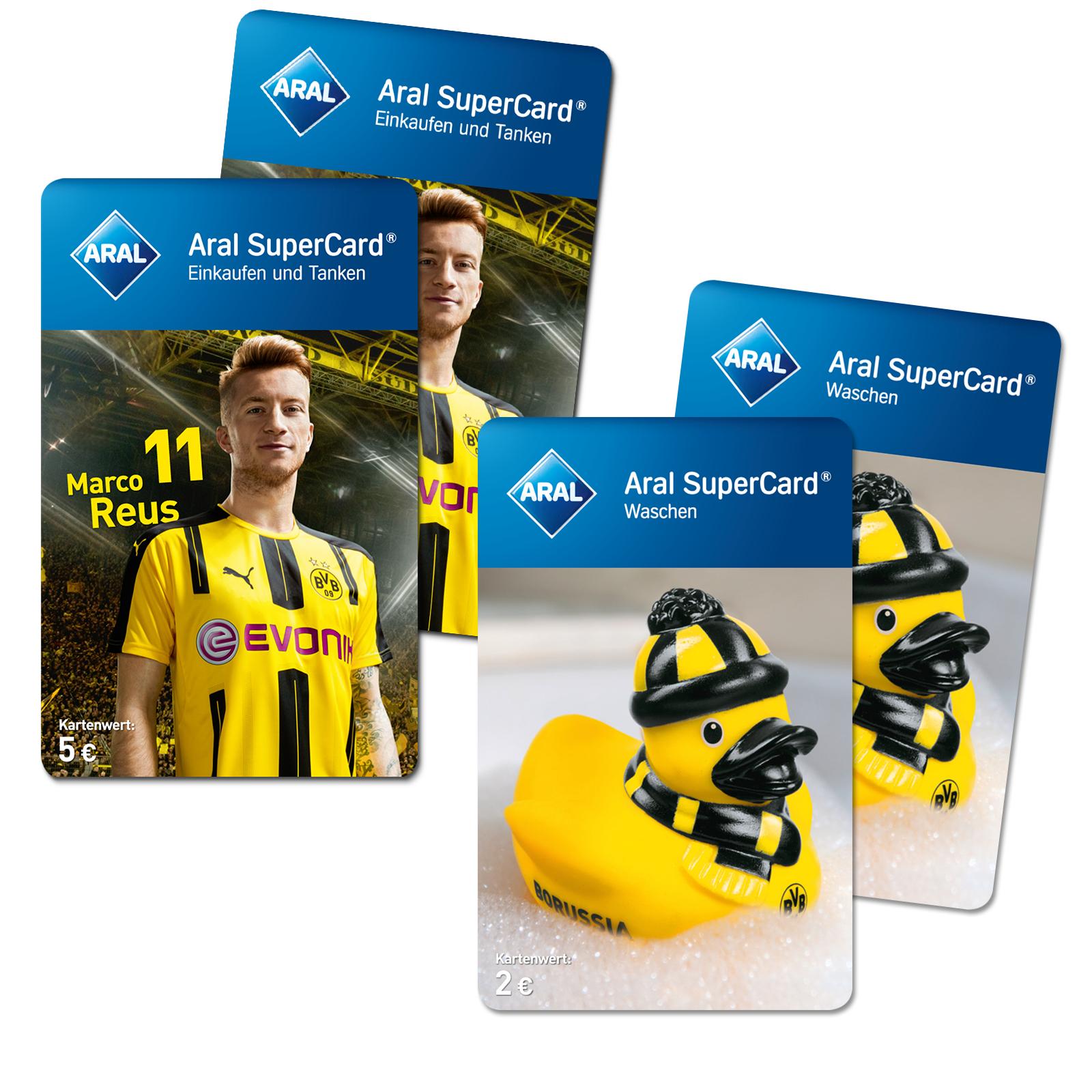 Aral Supercard 2x5€ Tankkarten kaufen, 2x2€ Waschkarten gratis