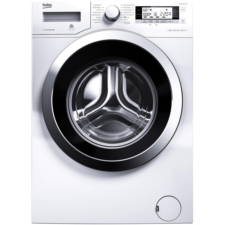 [Amazon] Beko WYA 81643 LE Waschmaschine FL / A+++ / 190 kWh/Jahr / 1600 UpM / 10780 L/Jahr / 8 kg / weiß / Watersafe+ jetzt 393€