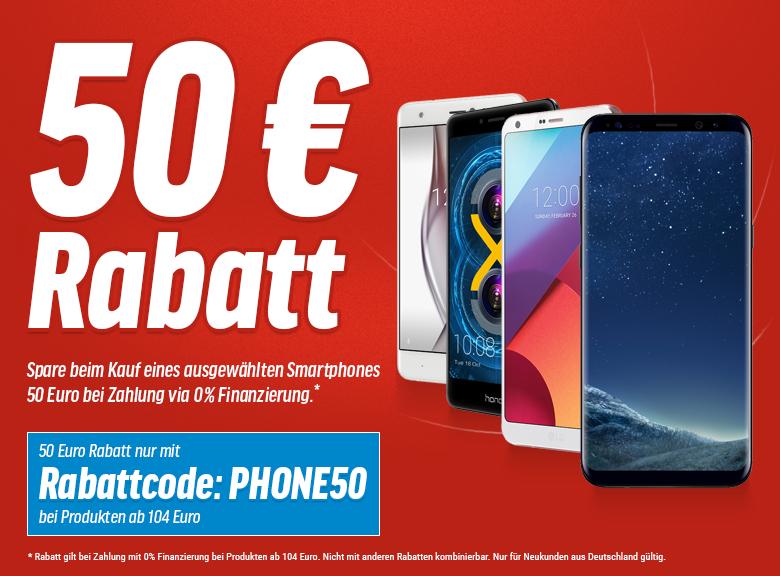 50€ Rabatt auf viele Smartphones bei 0%-Finanzierung als Neukunde - Z.b. Honor 6x 64gb für 249€ oder 32gb Variante für 187€ - Versandkostenfrei