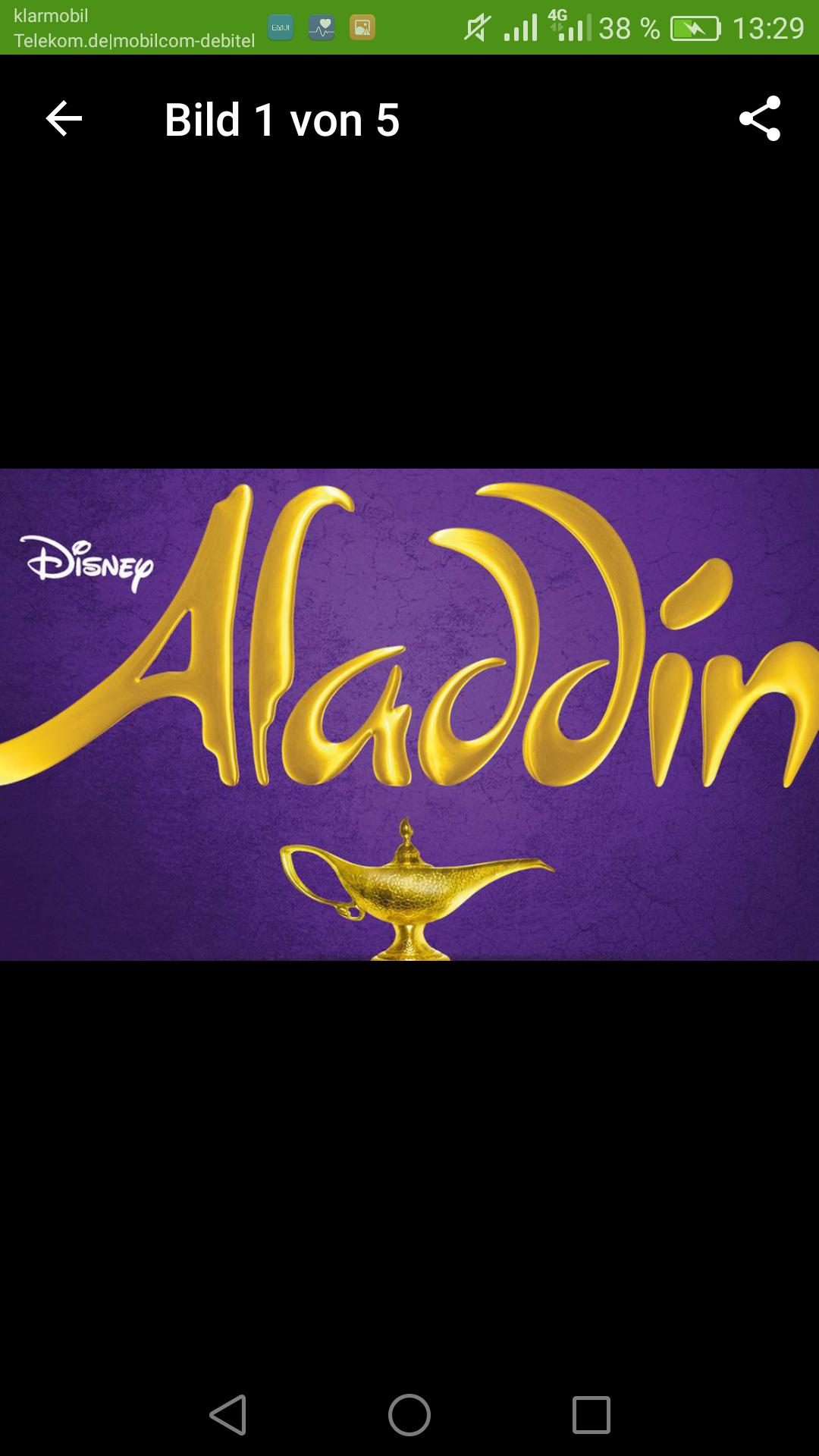 Disney Musical Aladdin in Hamburg, 27 -38 % Rabatt je nach Kategorie ab 54.90, groupon