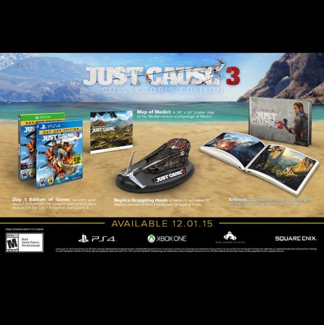 Just Cause 3 Collectors Version 29,95€ für PS4 und Xbox one
