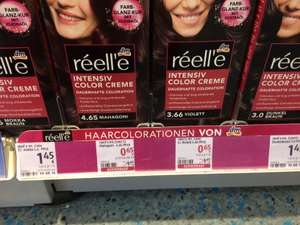 dm roter Preis - réell´e Intensiv Color Creme / dauerhafte Haarfarbe