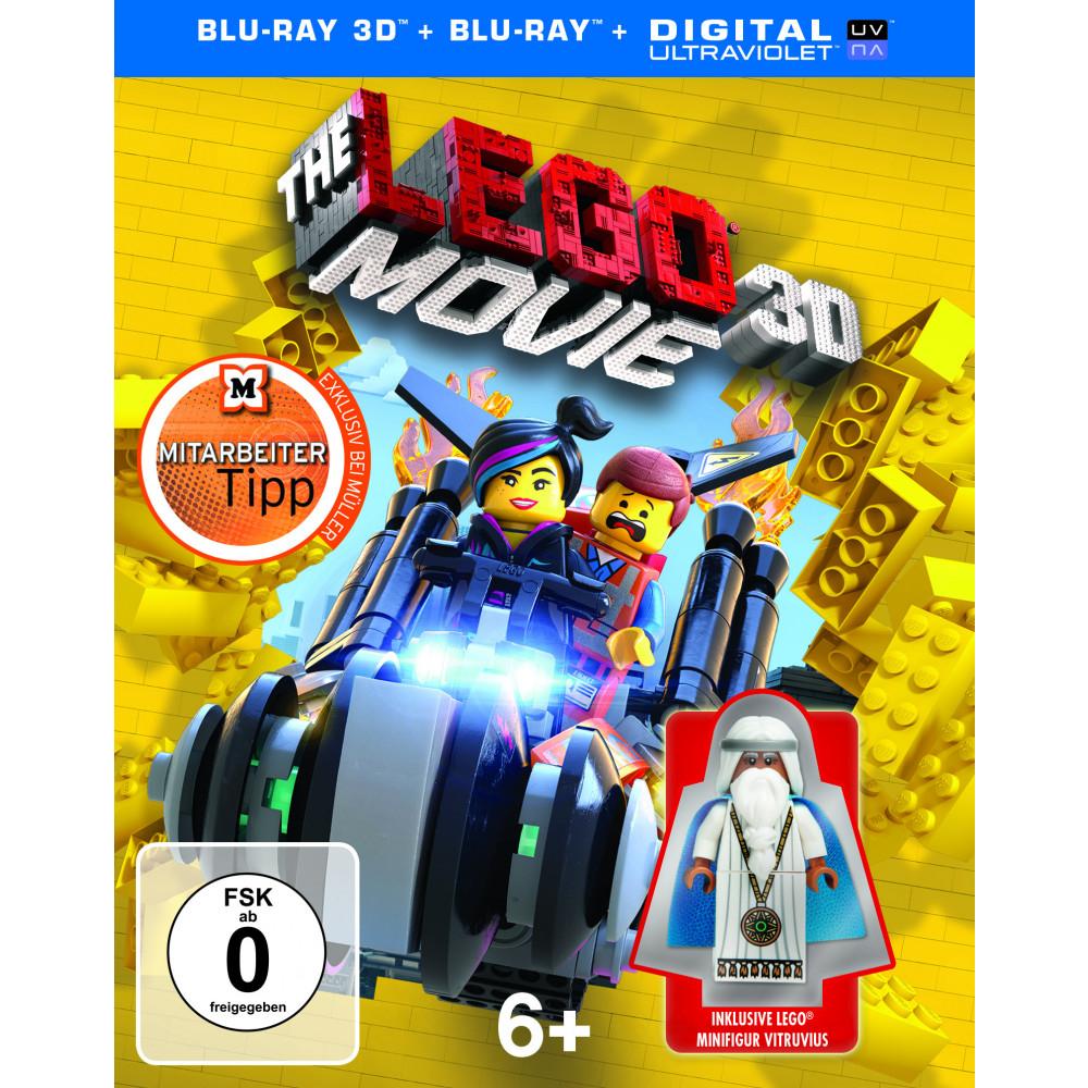 Lego Movie (exkl. Müller, inkl. Lego Minifigur) (3D Blu-ray + Blu-ray) für 12,99€ (bzw. 11,69€) (Müller)